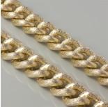Zdjęcie - Łańcuch aluminiowy owal w kratkę złoty