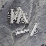 Zdjęcie - Srebrne zapięcie trzy oczka, Ag925