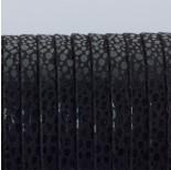 Zdjęcie - Rzemień płaski klejony czarne ciapki