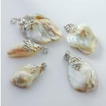 Zdjęcie - Zawieszka z perły naturalnej białej w srebrnej krawatce
