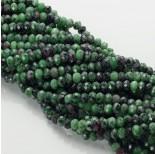 Zdjęcie - Zoisyt z rubinem oponka fasetowana zielona