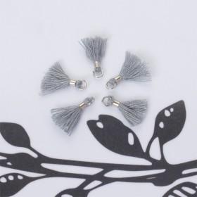 Zdjęcie - Mini chwosty w srebrnym okuciu szary
