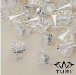 Zdjęcie - Krawatka ażurowa w kolorze srebrnym