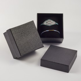 Zdjęcie - Pudełko do biżuterii ozdobne z poduszką czarne