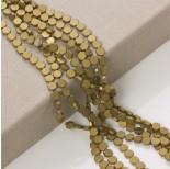 Zdjęcie - Hematyt platerowany sześciokąt płaski matowy stare złoto