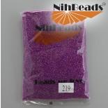 Zdjęcie - Koraliki NihBeads Inside-Color Rainbow Black Diamond/ Fucia Line