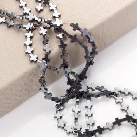 Zdjęcie - Hematyt krzyż błyszczący grafitowy