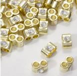 Zdjęcie - Przekładka z kryształkiem koloru złotego crystal
