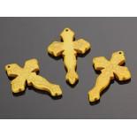 Zdjęcie - Howlit krzyż rzeźbiony zawieszka żółta