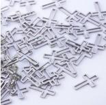 Zdjęcie - Baza geometryczna ze stali chirurgicznej krzyż srebrny