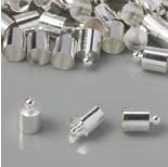 Zdjęcie - Końcówki do rzemieni i sznurków w kolorze srebrnym