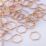Zdjęcie - Baza geometryczna ze stali chirurgicznej heksagon złoty