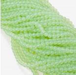 Zdjęcie - Koraliki szklane pistacjowe