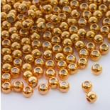 Zdjęcie - Zapięcie stoper z silikonem do cienkich sznureczków kulka złoty