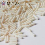Zdjęcie - Koraliki Miyuki Bugles #2 6 mm Matted Opaque Cream