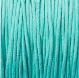 Zdjęcie - Sznurek bawełniany woskowany turkusowy