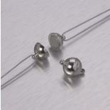Zdjęcie - Zapięcie magnetyczne kulka w kolorze ciemnego srebra