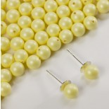Zdjęcie - 5818 round pearl do kolczyków pastel yellow