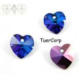 Zdjęcie - 6228 heart pendant, SWAROVSKI, heliotrope,