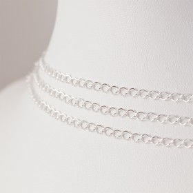 Zdjęcie - Srebrny łańcuszek romb, próba Ag925