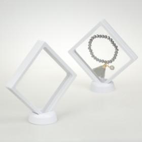 Zdjęcie - Ekspozytor z membraną ramka 3D biała z podstawką