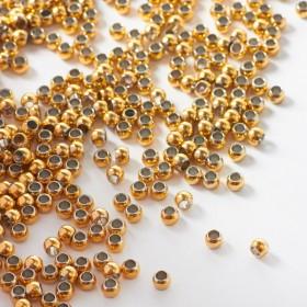 Zdjęcie - Kulki ze stali chirurgicznej z dużą dziurką w kolorze złotym