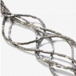 Zdjęcie - Hematyt platerowany matowy czworokąt srebrny