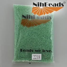 Zdjęcie - Koraliki NihBeads Inside-Color Lustered Crystal/ Mint Line