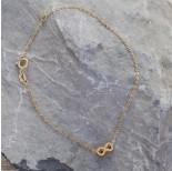 Zdjęcie - Srebrna bransoletka simple ze znakiem nieskończoności Ag925 pozłacana
