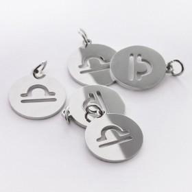 Zdjęcie - Zawieszka ze stali chirurgicznej znak zodiaku Waga