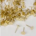Zdjęcie - Sztyfty talerzyki w kolorze złotym