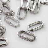 Zdjęcie - Rodowany łącznik ogniwo łańcucha z cyrkoniami
