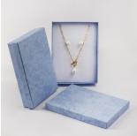 Zdjęcie - Pudełko do biżuterii ozdobne prostokątne niebieskie