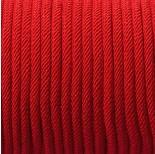 Zdjęcie - Sznurek pleciony intensywna czerwień