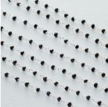 Zdjęcie - Łańcuch srebrny ag925 ze spinelem fasetowanym
