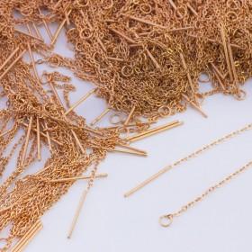 Zdjęcie - Baza do kolczyków z łańcuszka ze stali chirurgicznej złoty
