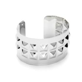 Zdjęcie - Srebrna bransoletka cuff z ćwiekami