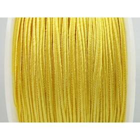 Zdjęcie - Sznurek pleciony do sutaszu żółty