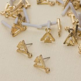 Zdjęcie - Kolczyki dwa trójkąty z oczkiem