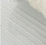 Zdjęcie - Łańcuszek rollo diamentowany w kolorze srebrnym