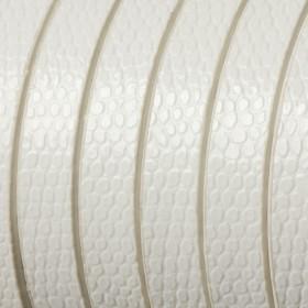 Zdjęcie - Rzemień płaski łuski białe