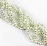 Zdjęcie - Perły szklane kulki białe