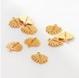 Zdjęcie - Zawieszka ze stali chirurgicznej liść monstery złota