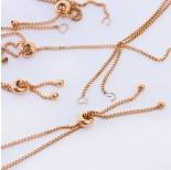 Zdjęcie - Baza bransoletki z łańcuszka z silikonowym stoperem ze stali chirurgicznej złoty