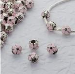 Zdjęcie - Koralki emaliowany pink flower