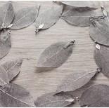 Zdjęcie - Liść naturalny metalizowany grafit