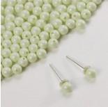 Zdjęcie - 5818 round pearl do kolczyków pastel green