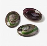 Zdjęcie - Zawieszka szkło weneckie owal fioletowo-zielone