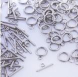 Zdjęcie - Zapięcie toggle kółko i patyczek ze stali chirurgicznej srebrny