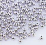 Zdjęcie - Zapięcie stoper z silikonem do cienkich sznureczków kulka z krawatką srebrny